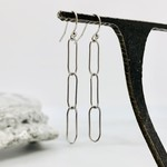 Silver Paperclip Chain Earrings