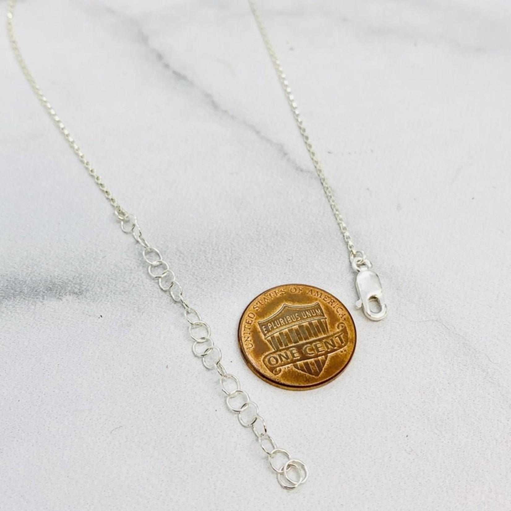 Handmade necklace with roman sea glass disc dangle