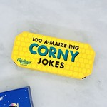 Get an earful of superbly corny humor with this set of 100 corn-chuckingly good jokes packaged in a corn-shaped box.