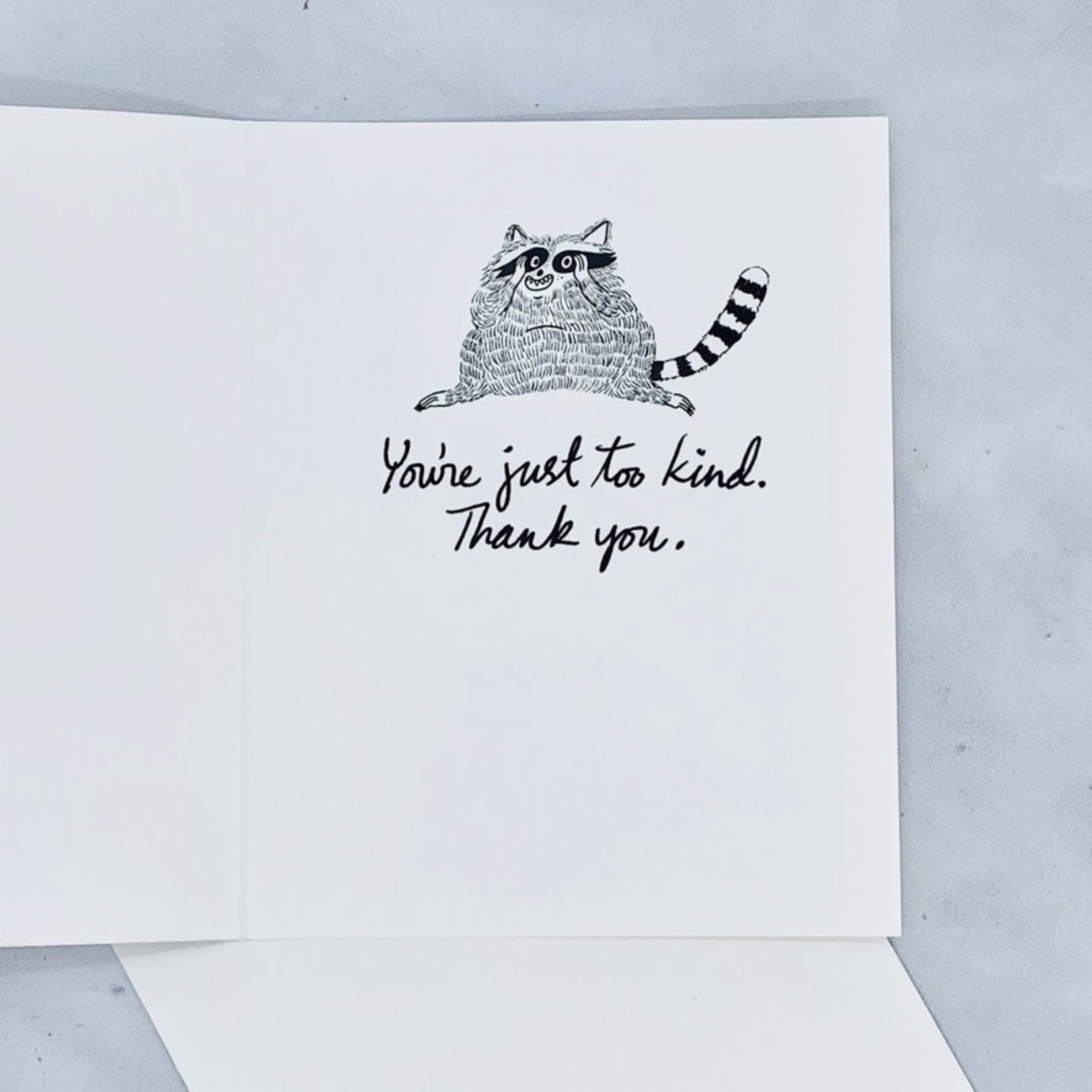 I can't even. - Raccoon Thank You card