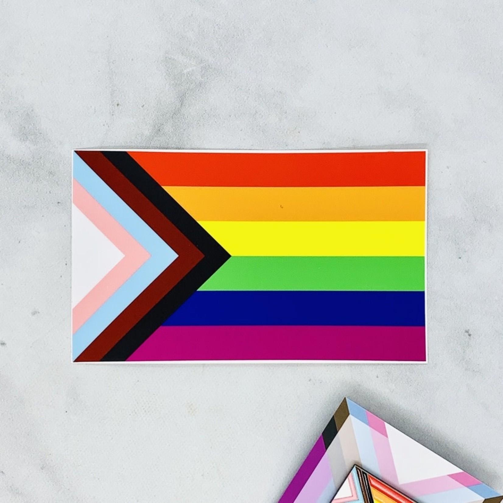 Flags for Good Progress Pride Sticker
