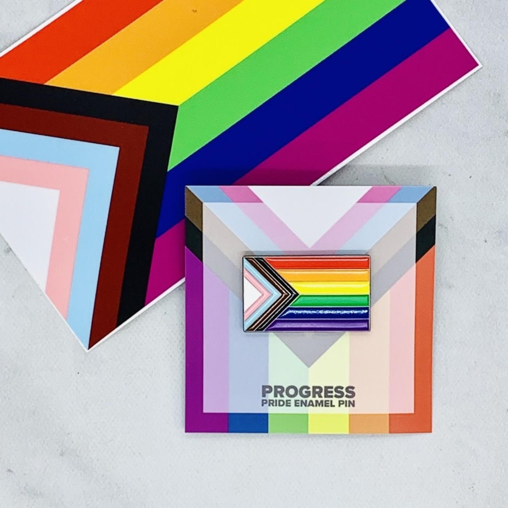 Flags for Good Progress Enamel Pin