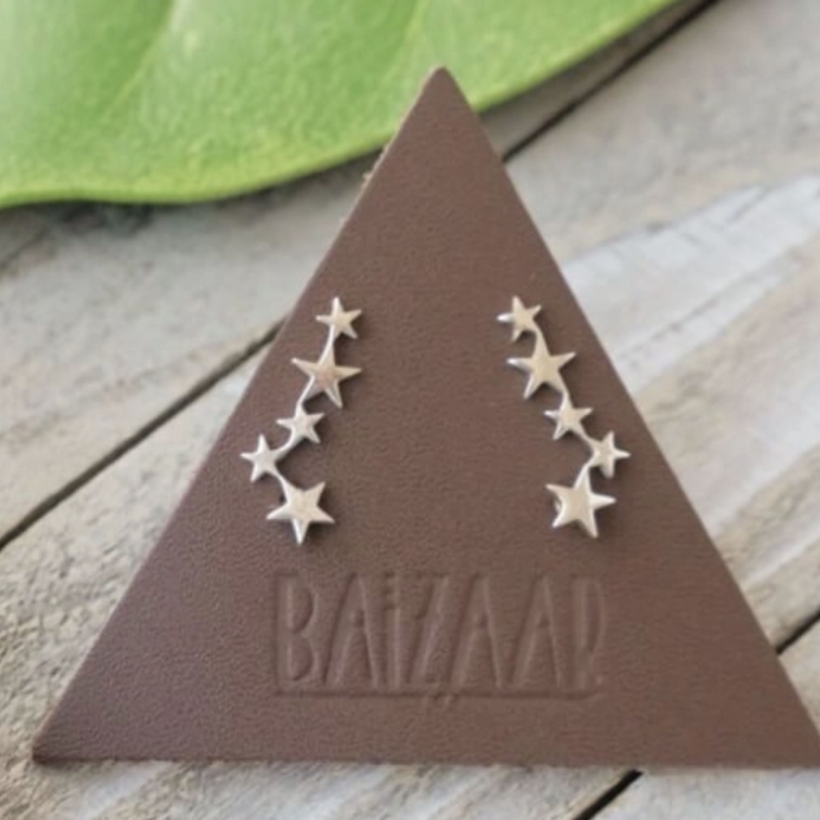 Baizaar Tiny stars sterling silver ear climber