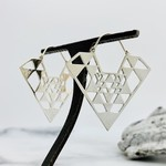 Baizaar Sterling silver Trikona earrings