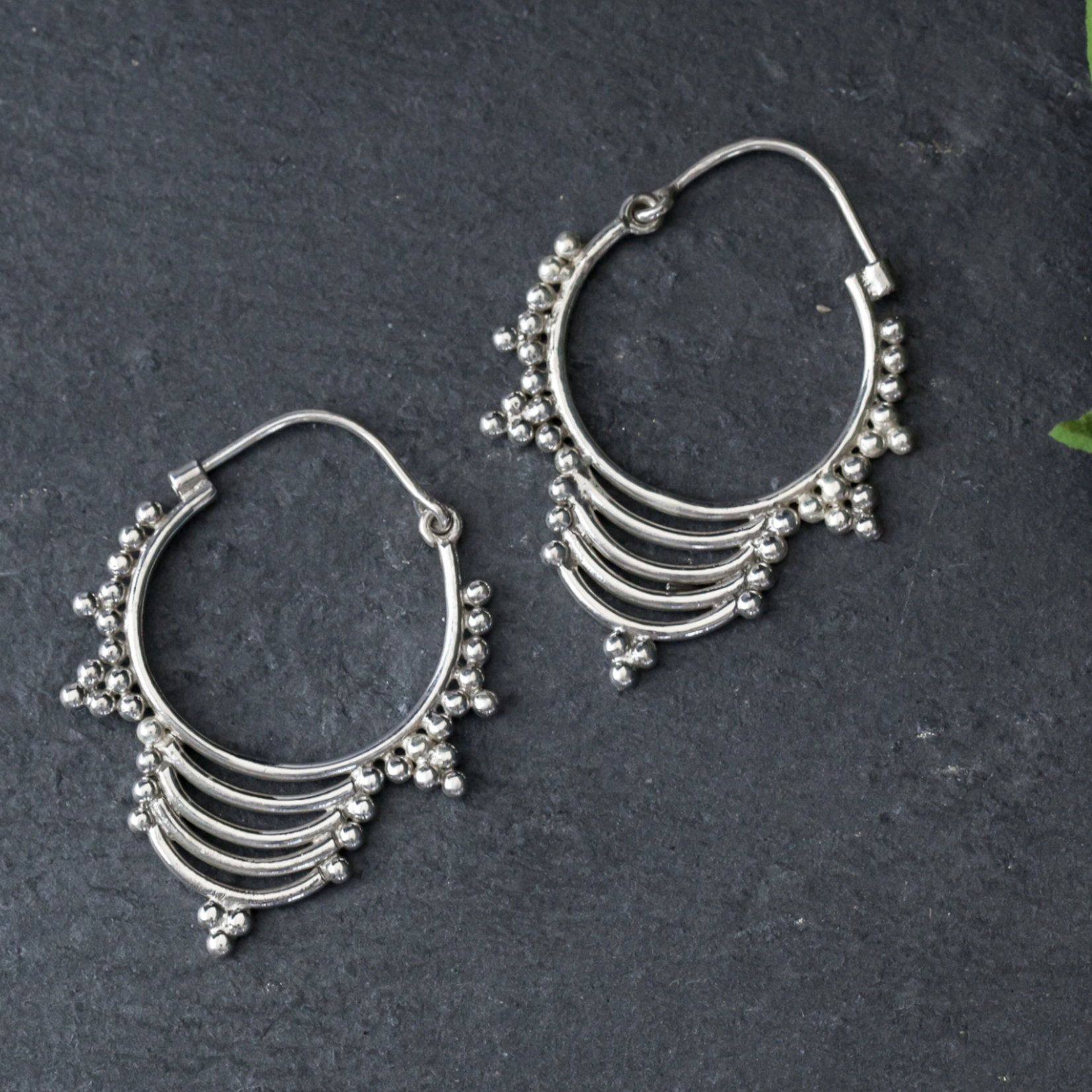 Baizaar Sterling silver jumka drop earring