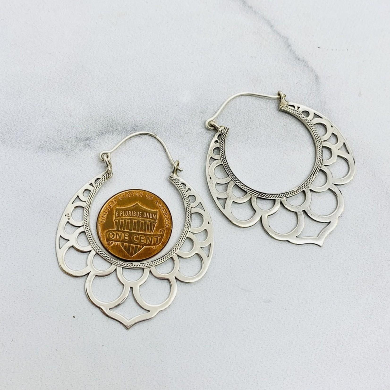 Baizaar Sterling silver Taj Mahal earrings
