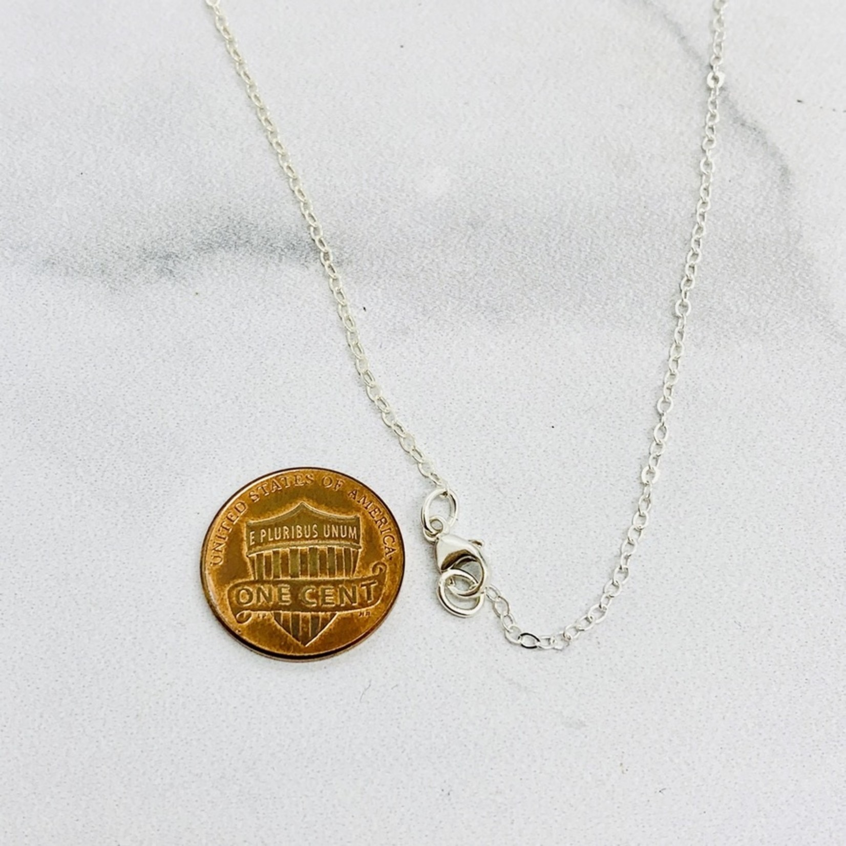 """Recycled Silver Bird Family Shield Necklace, 18"""""""