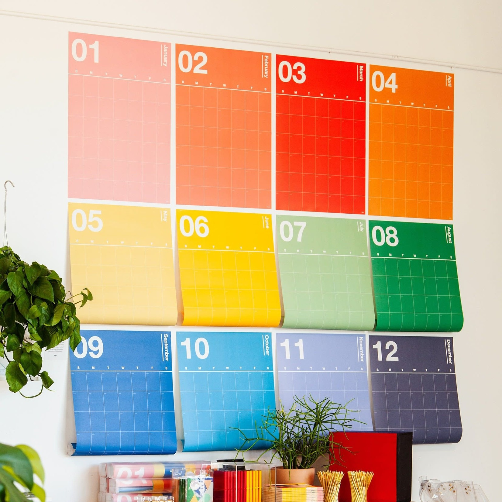 Poketo Spectrum Wall Planner