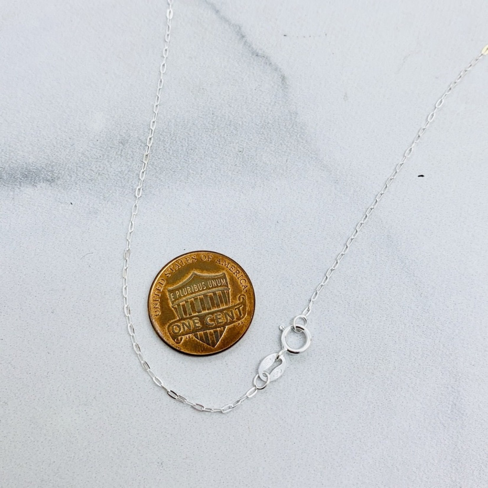 """Proteales Small Mood Stone Necklace, SS, 18"""""""