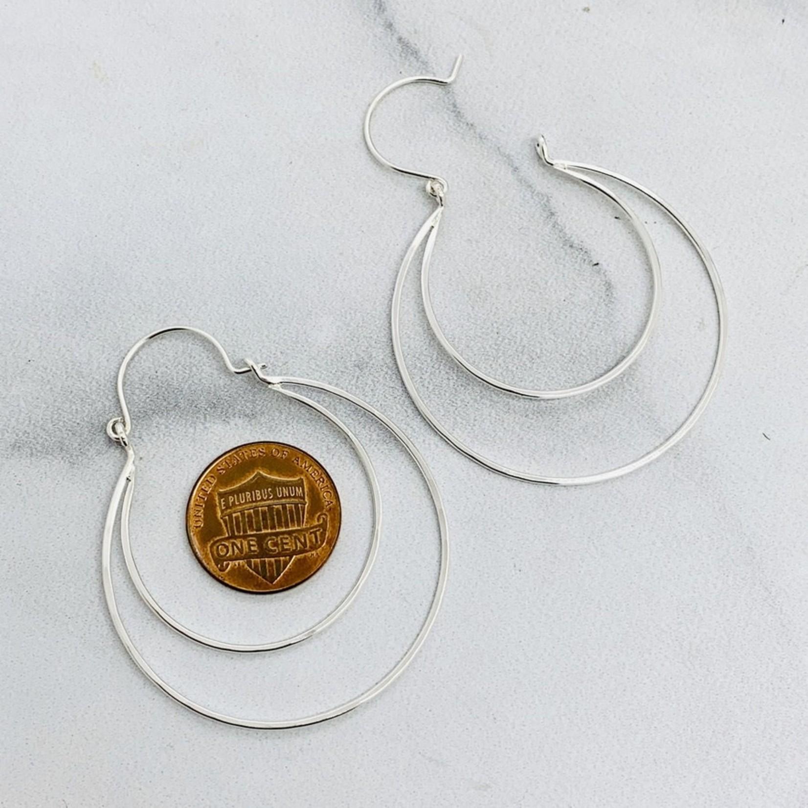 Eternal Hoop Earrings, Silver