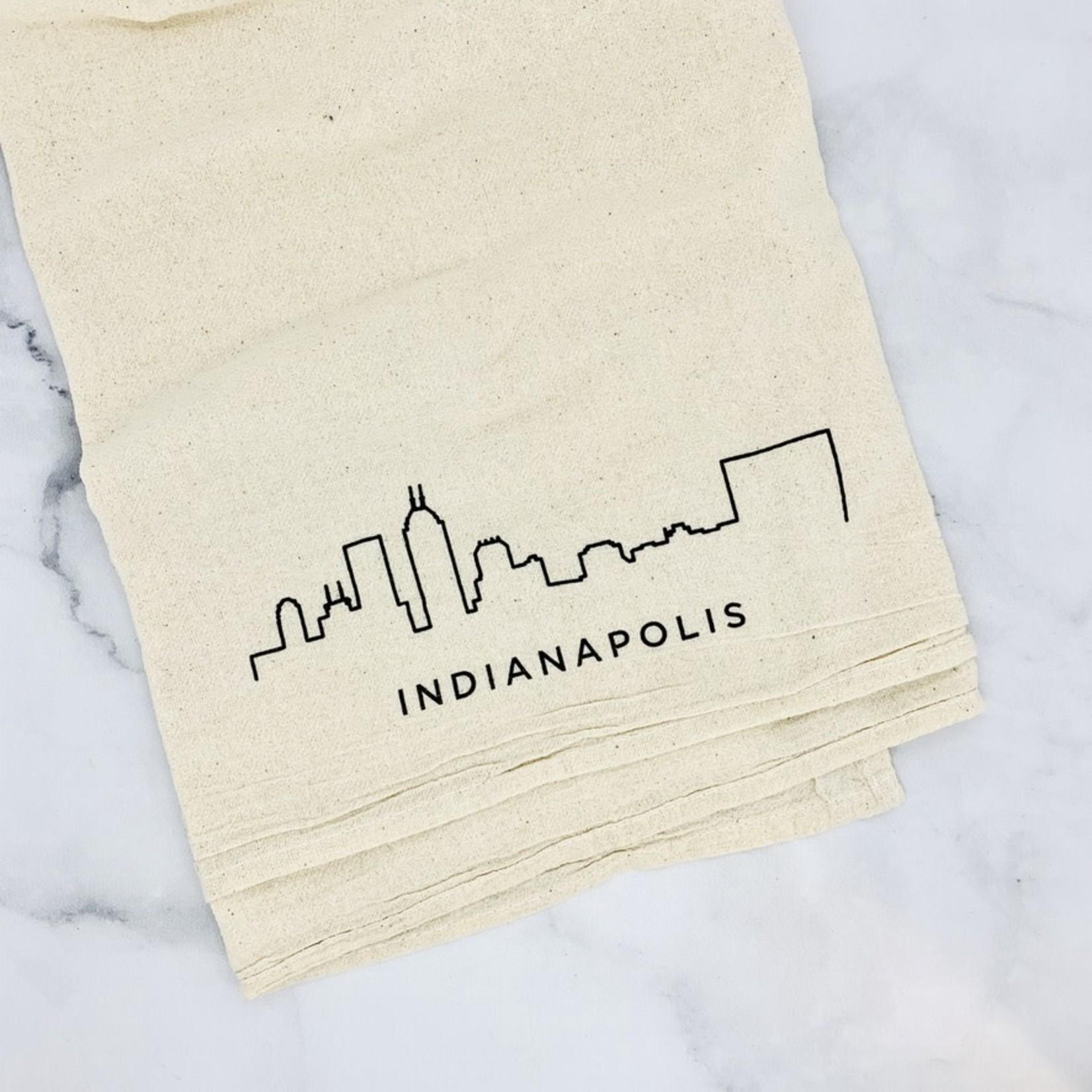 Indianapolis Skyline Flour Sack Tea Towel