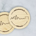 Indianapolis Skyline Coasters Set of 2