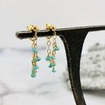 Handmade Sleeping Beauty Turquoise Gemstones on 14k GF Wrap Earrings