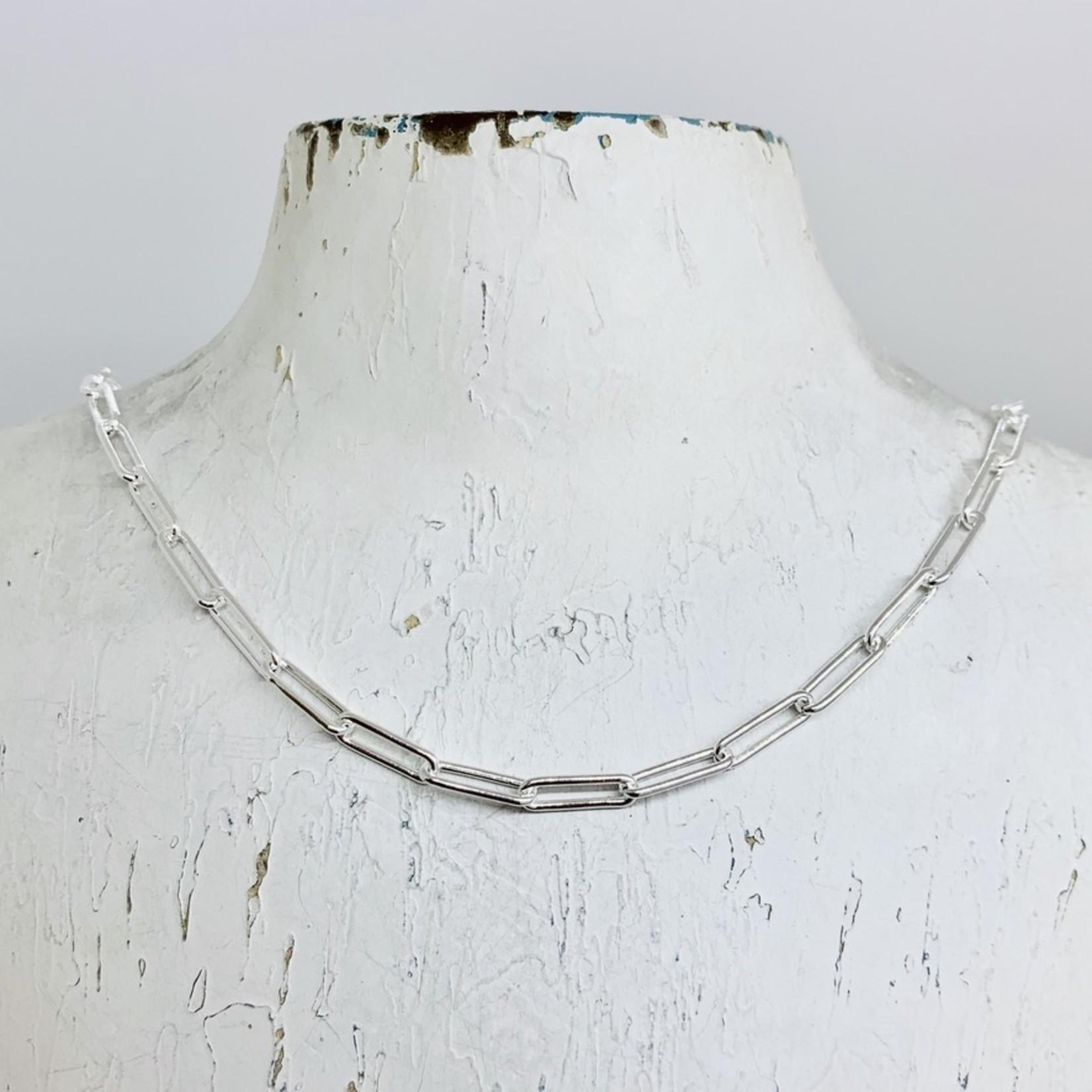 Silver 4mm Paper Clip Chain