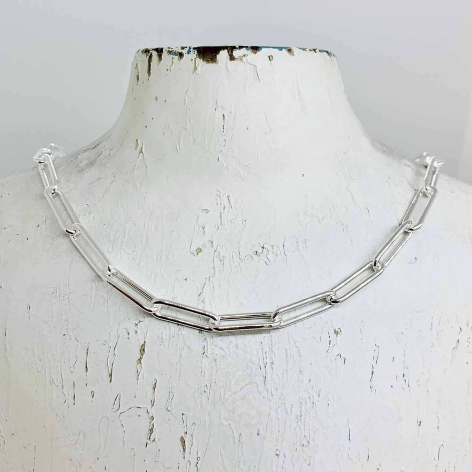 Silver 5.5mm Paper Clip Chain