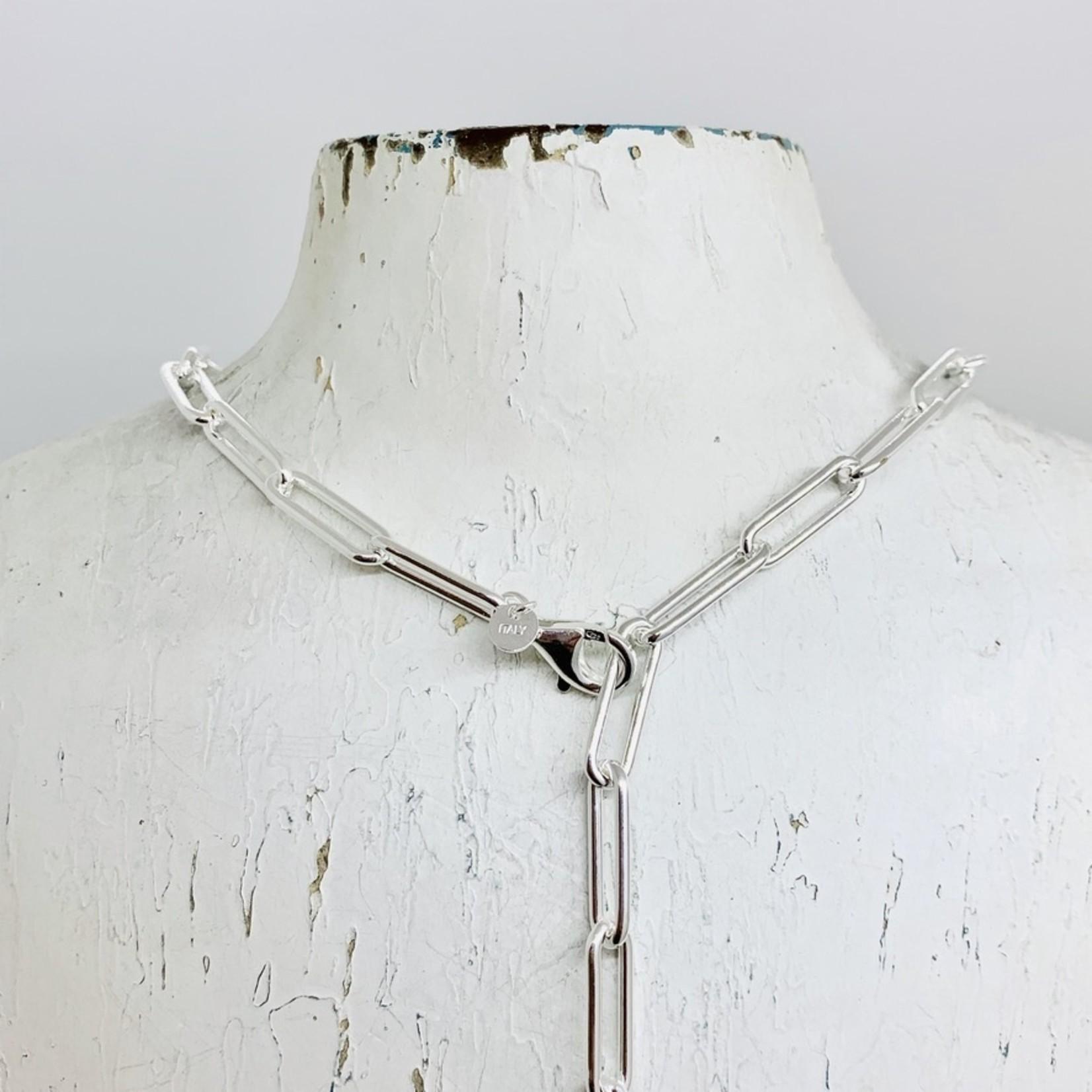 Silver 5.5mm Paper Clip Chain