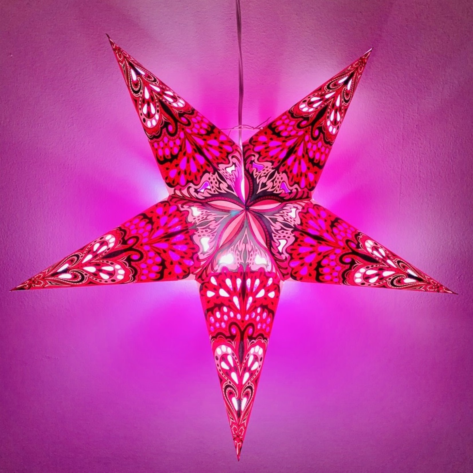 Purple Flower Star Light with 12' Cord