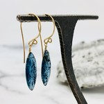 Handmade Marquis Moss Kyanite 14k Goldfill Drop Earrings