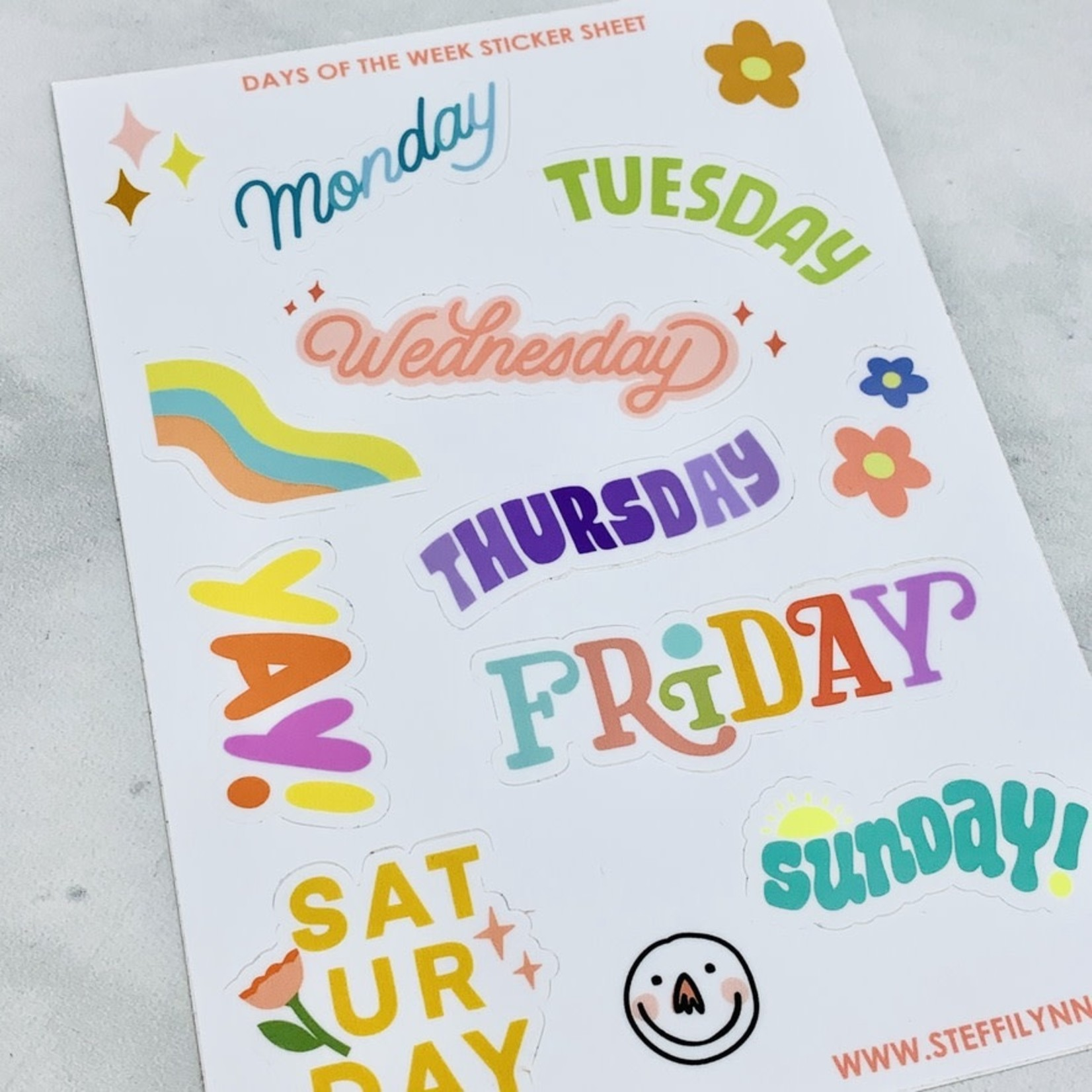 Have A Nice Day c/o Faire Week Days Sticker Sheet