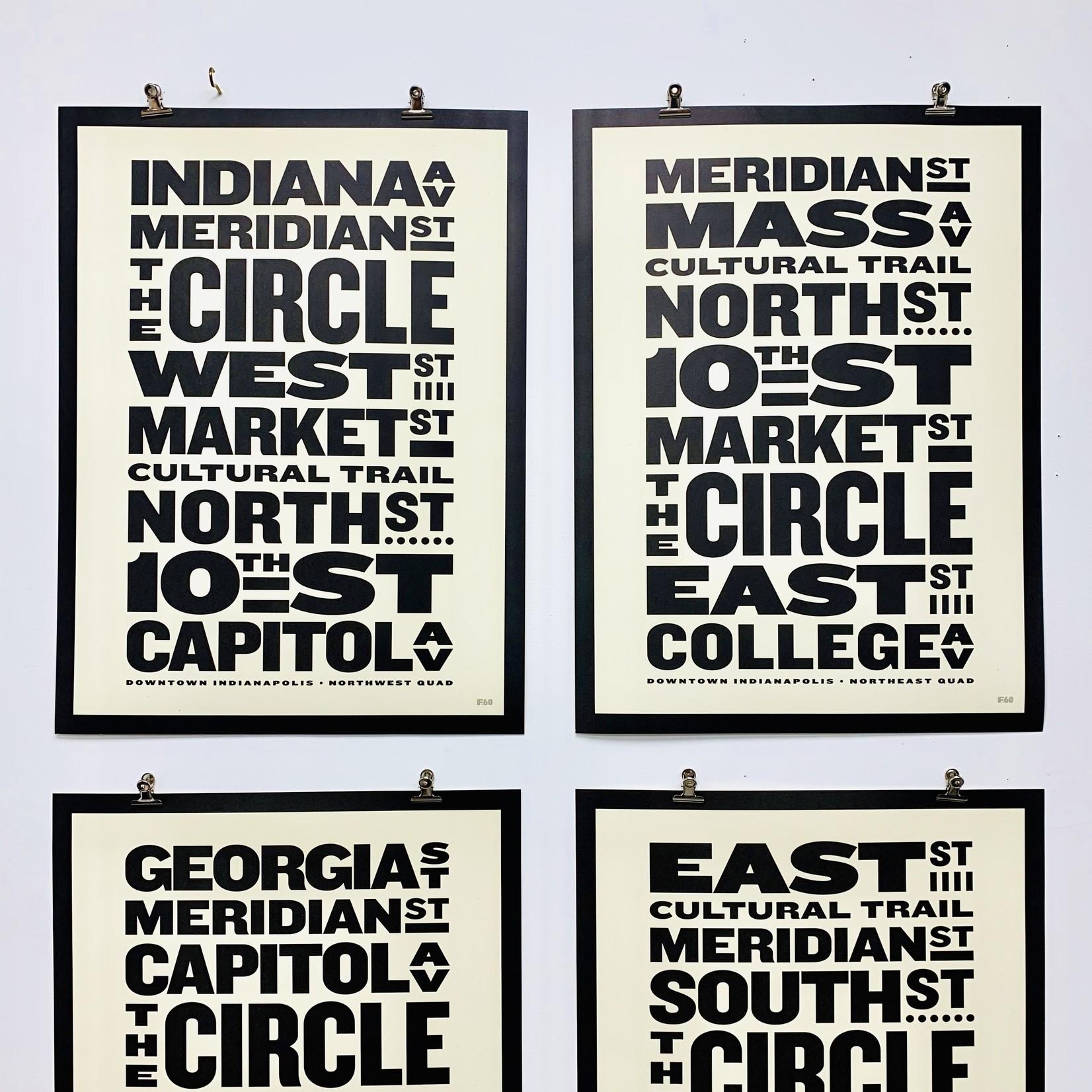 "18 x 24"" Indy Streets Print,"