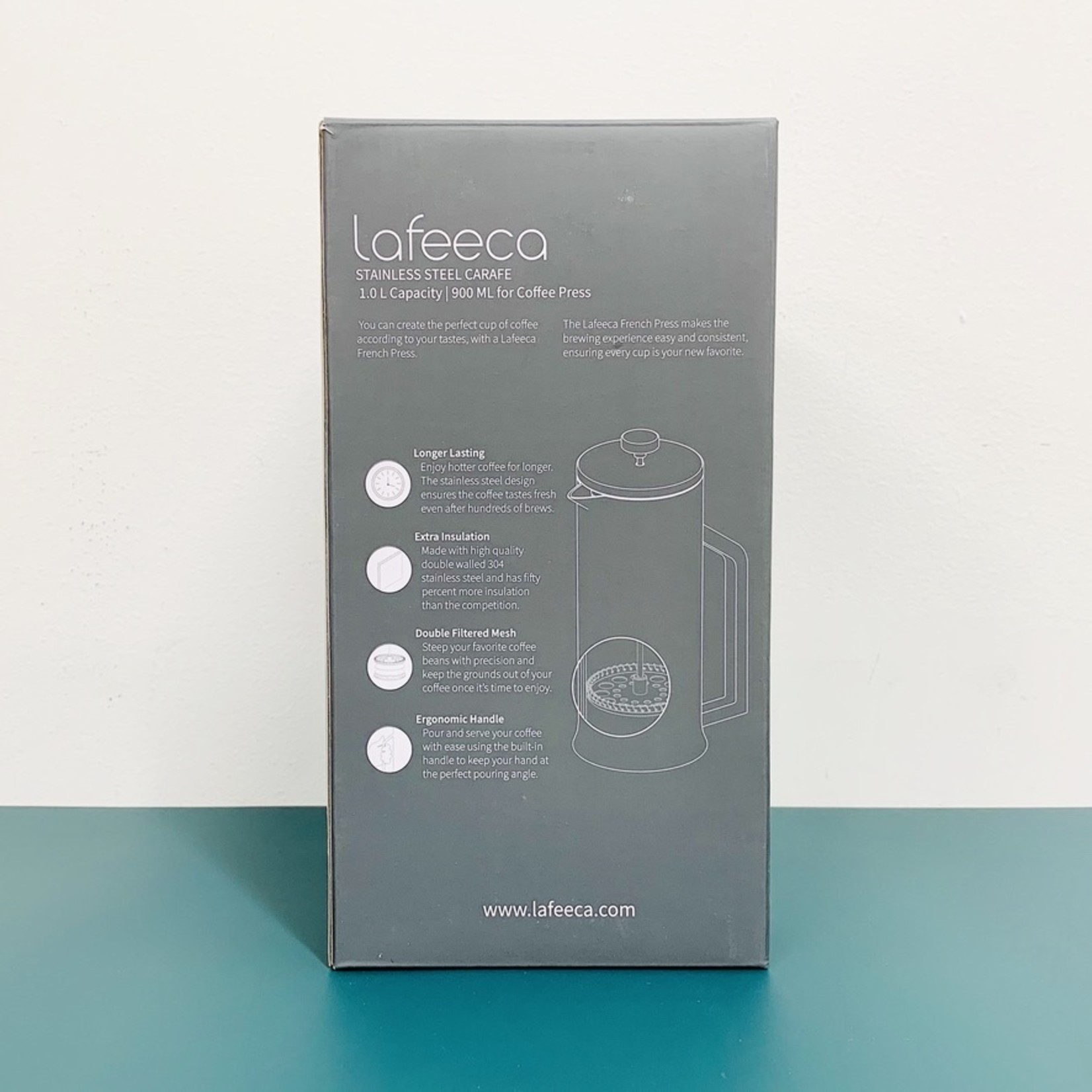 Lafeeca French Press Coffee Maker 1L