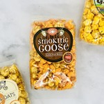 Small Bag of Just Pop In! Smoking Goose Caramel Bacon & Hickory Cheddar Popcorn