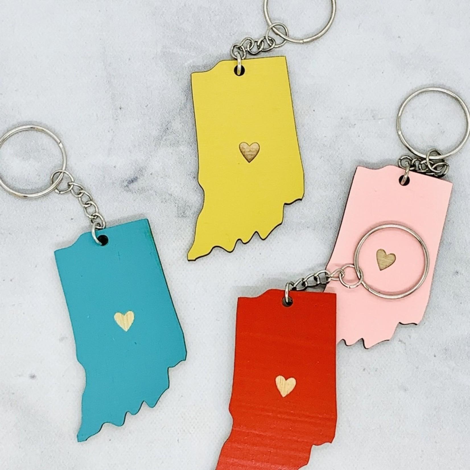 Indiana Heart Keychain