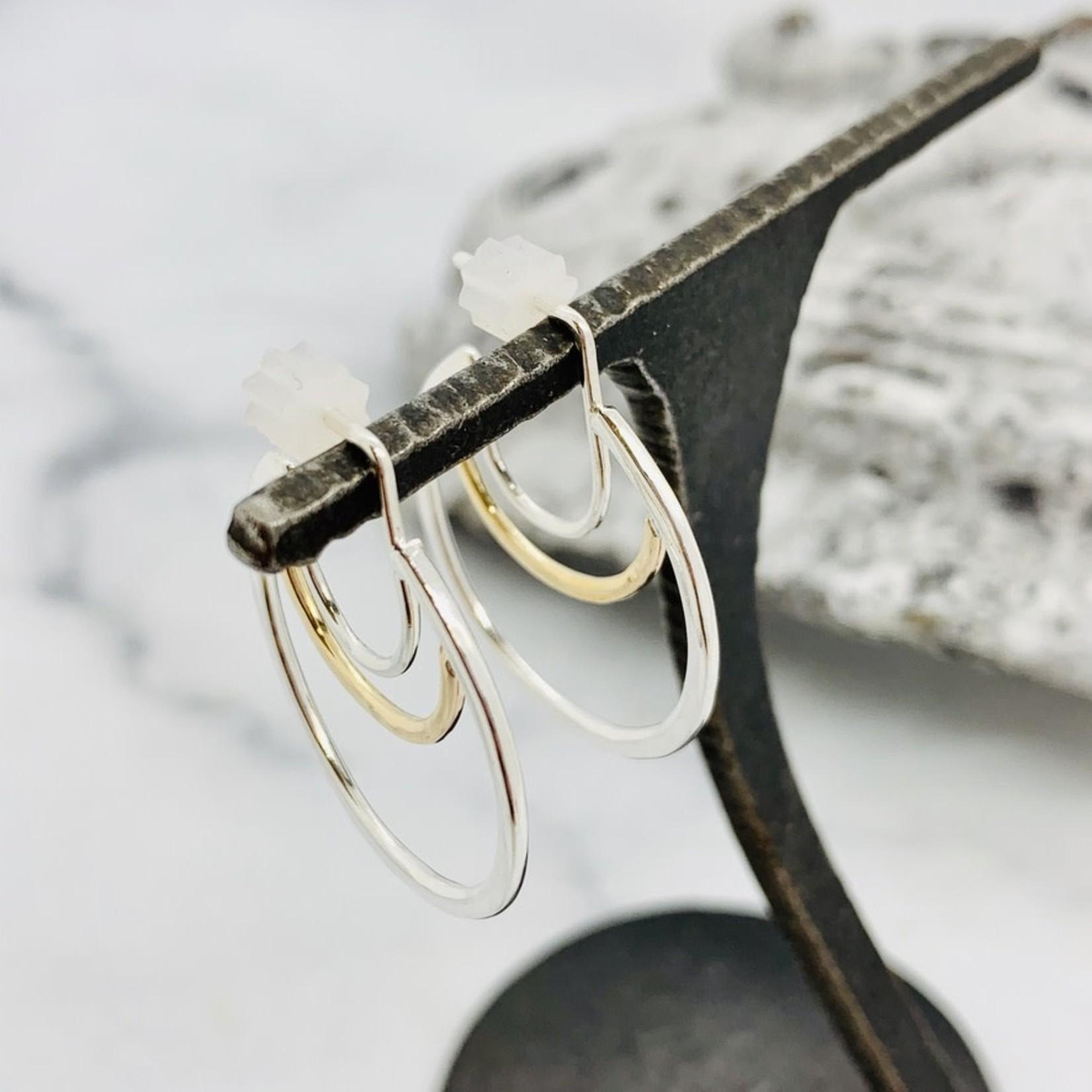 Aella Hoop Earring, Silver