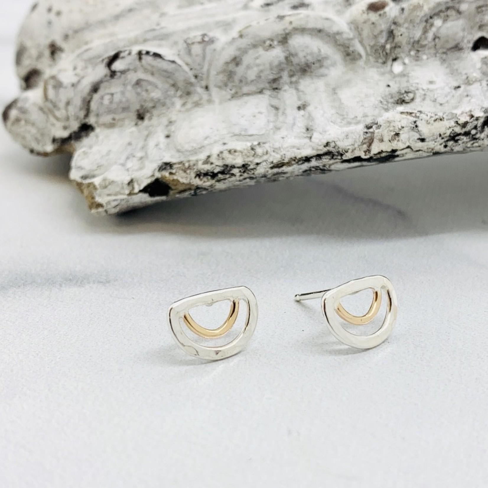Sun & Selene Aella Stud Earring, Silver