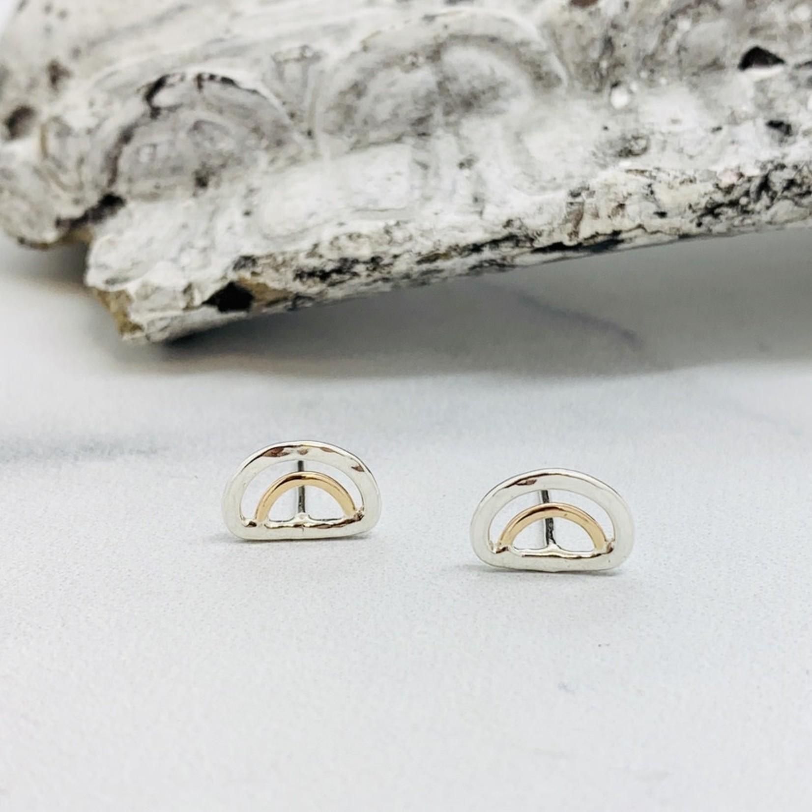 Aella Stud Earring, Silver