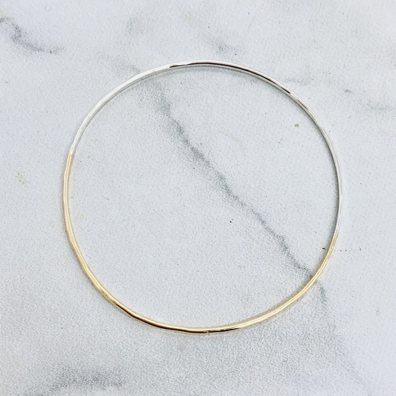 Naked Bangle Bracelet, Mixed Metals