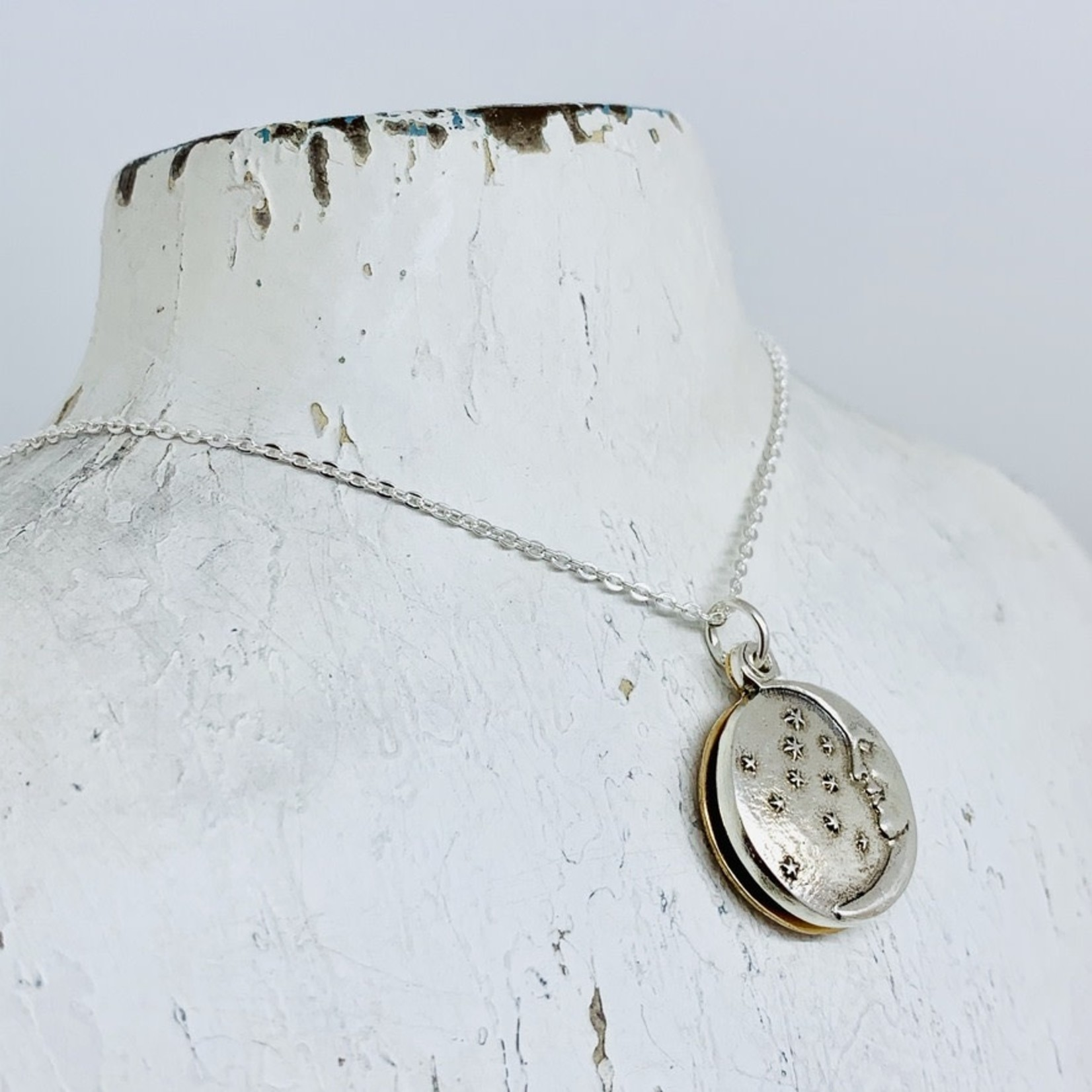 Silver and Bronze Moon & Sun Sliding Locket