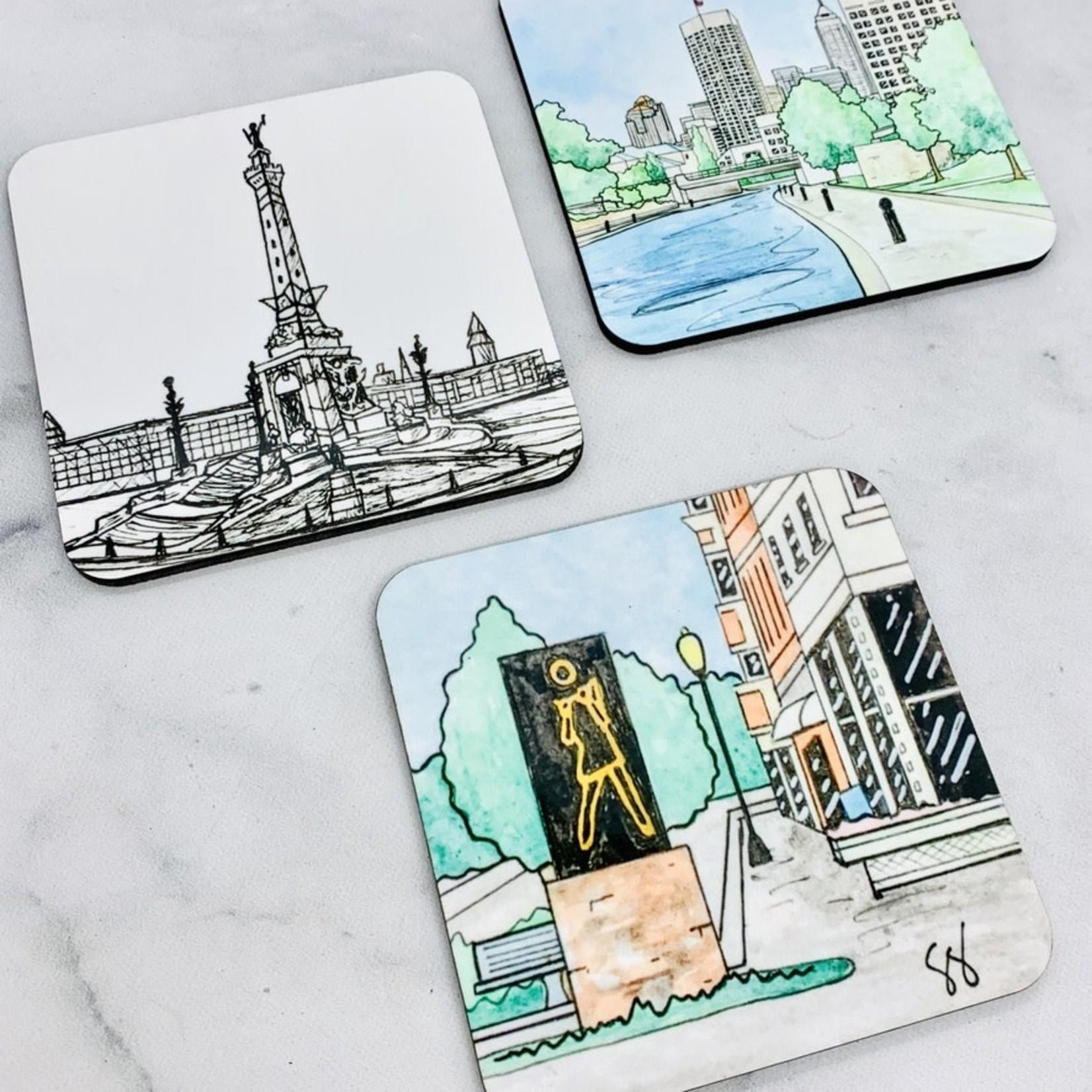 Skye Smith Indy Icon Coaster Set of 3