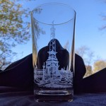 Skye Smith Indy Etched Pint Glass