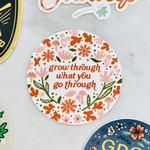 Paper Parasol Press Grow Through What You Go Through Sticker