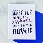 Craft Boner Asshole When I Was A Teenager Card