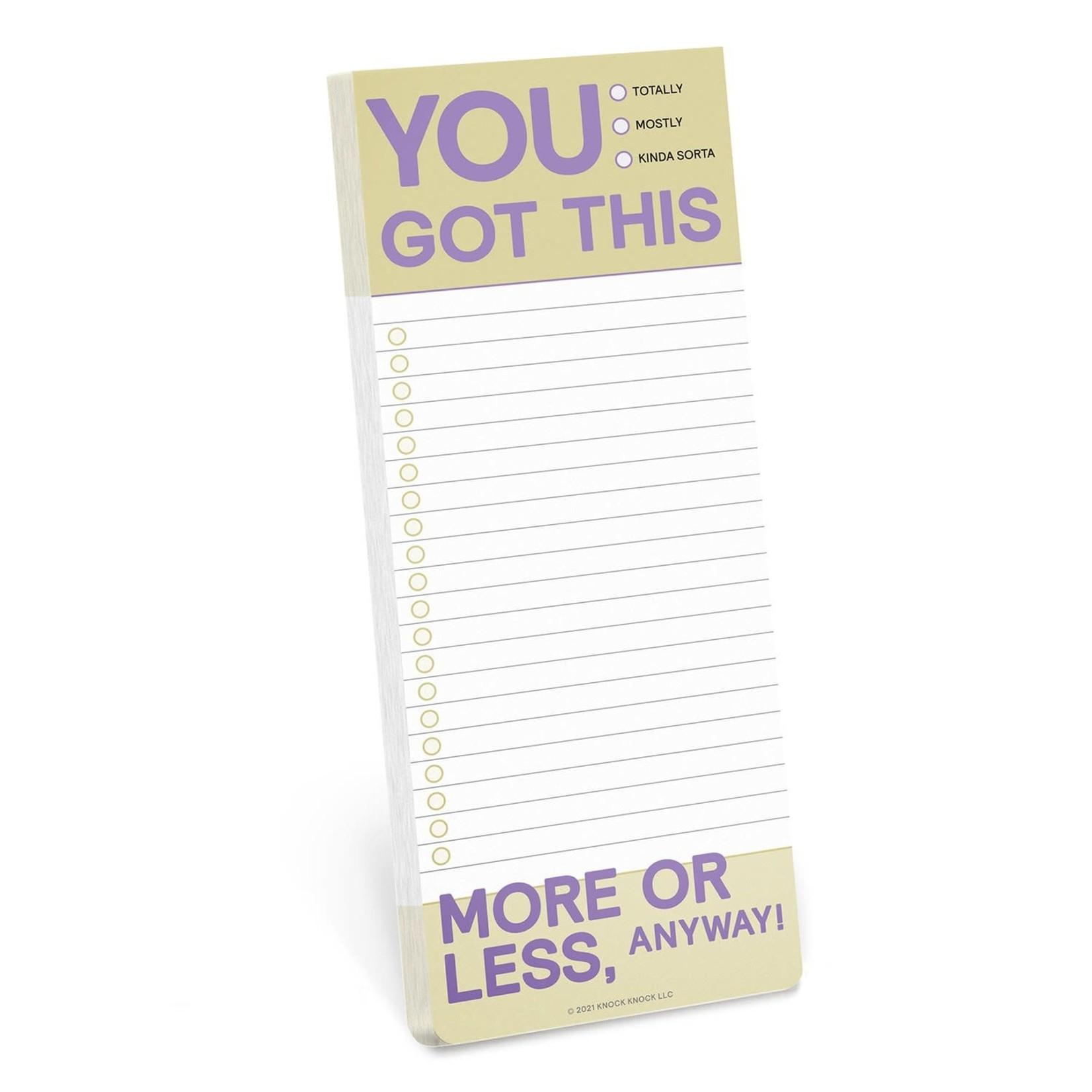 Make-A-List Pad