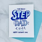 Bench Pressed Step Dad Father's Day Card