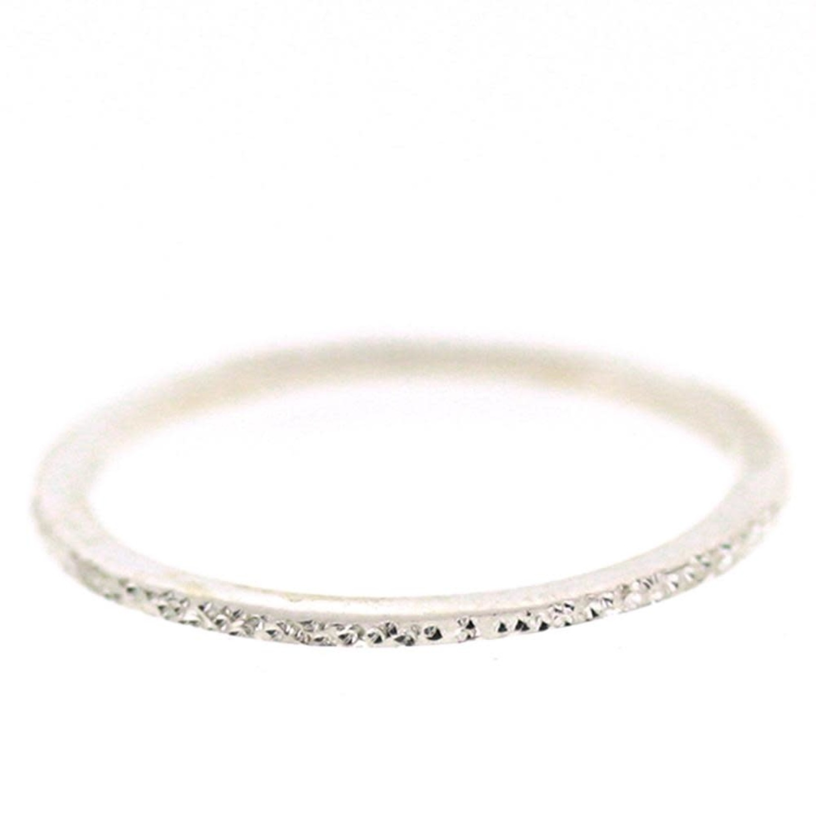 Silver Diamond Dusted Petite Stacking Ring