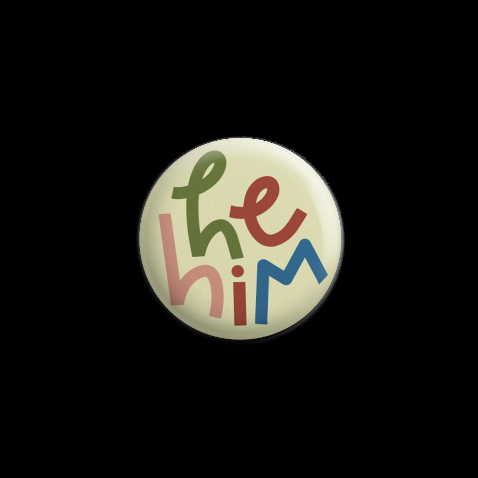 Twentysome Design Colorful Pronoun Pin
