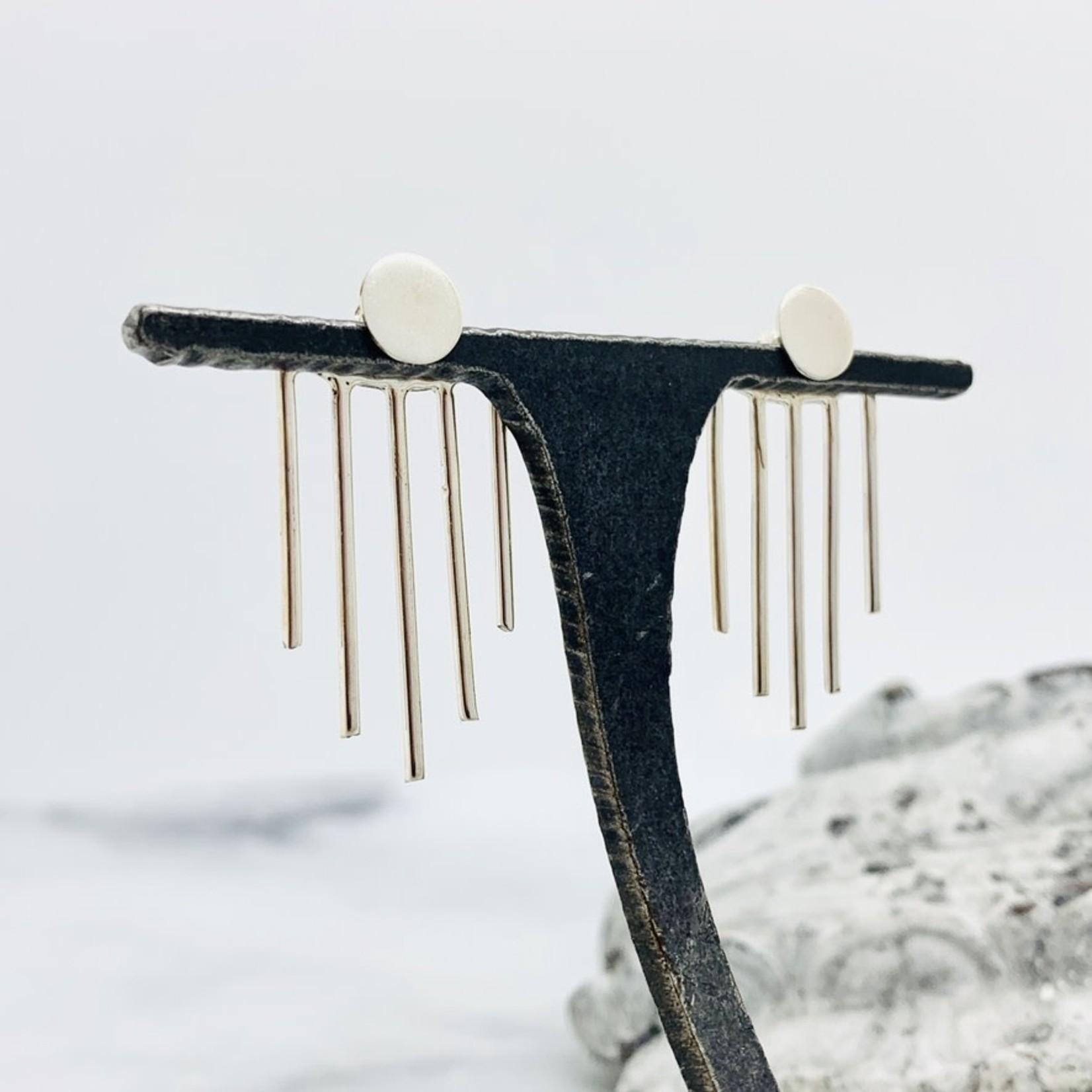 Baizaar Sunburst design ear jacket in sterling silver