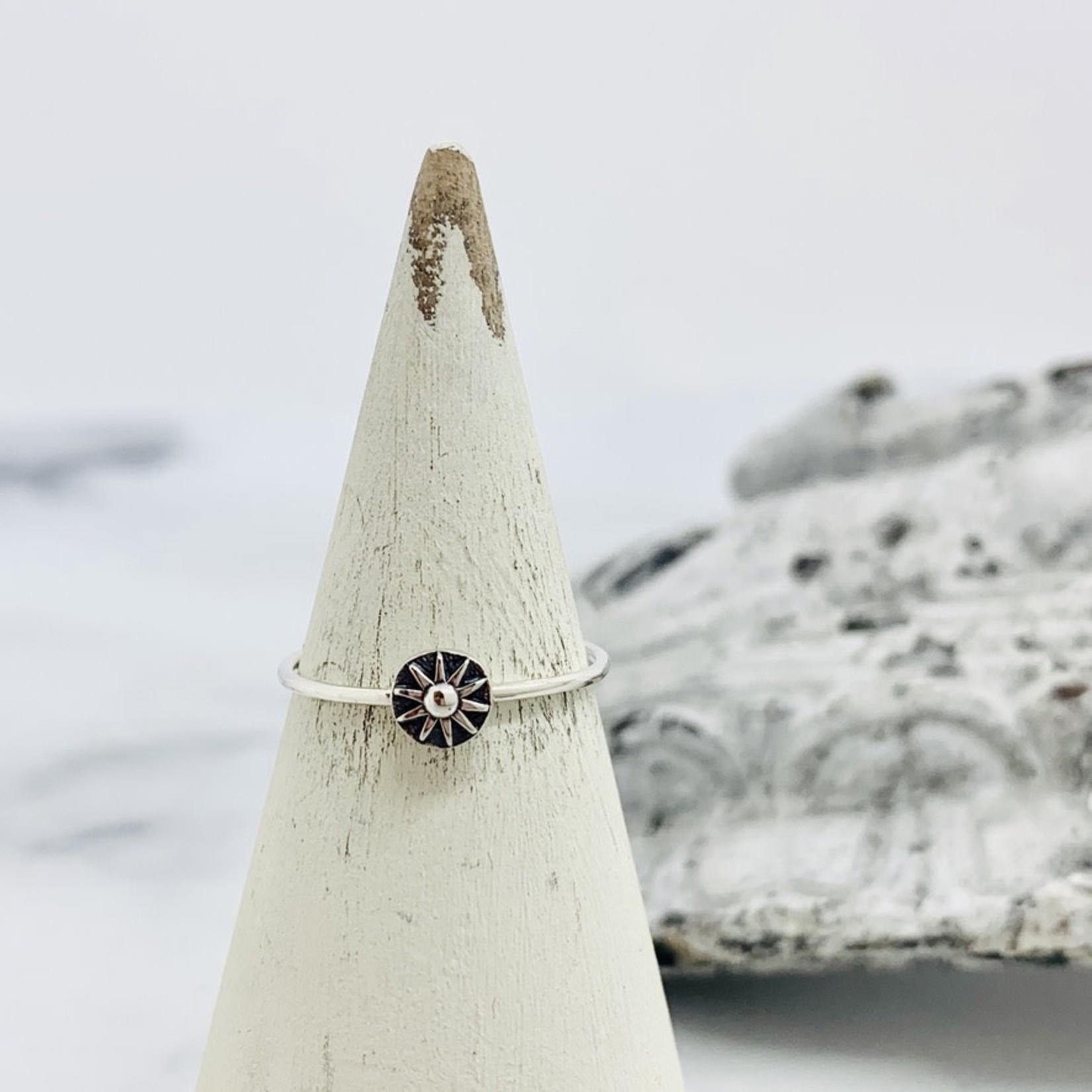Nina Designs Silver Sun Stacking Ring