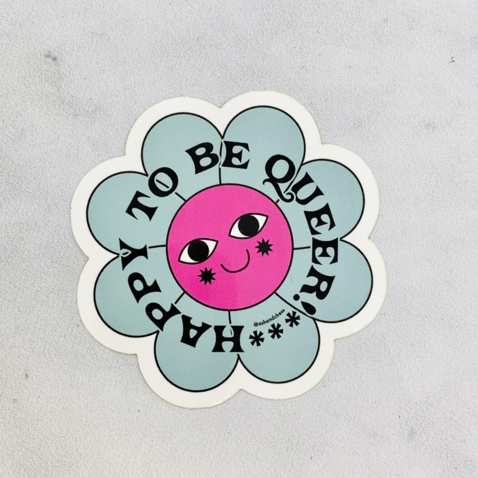 Happy To Be Queer Sticker