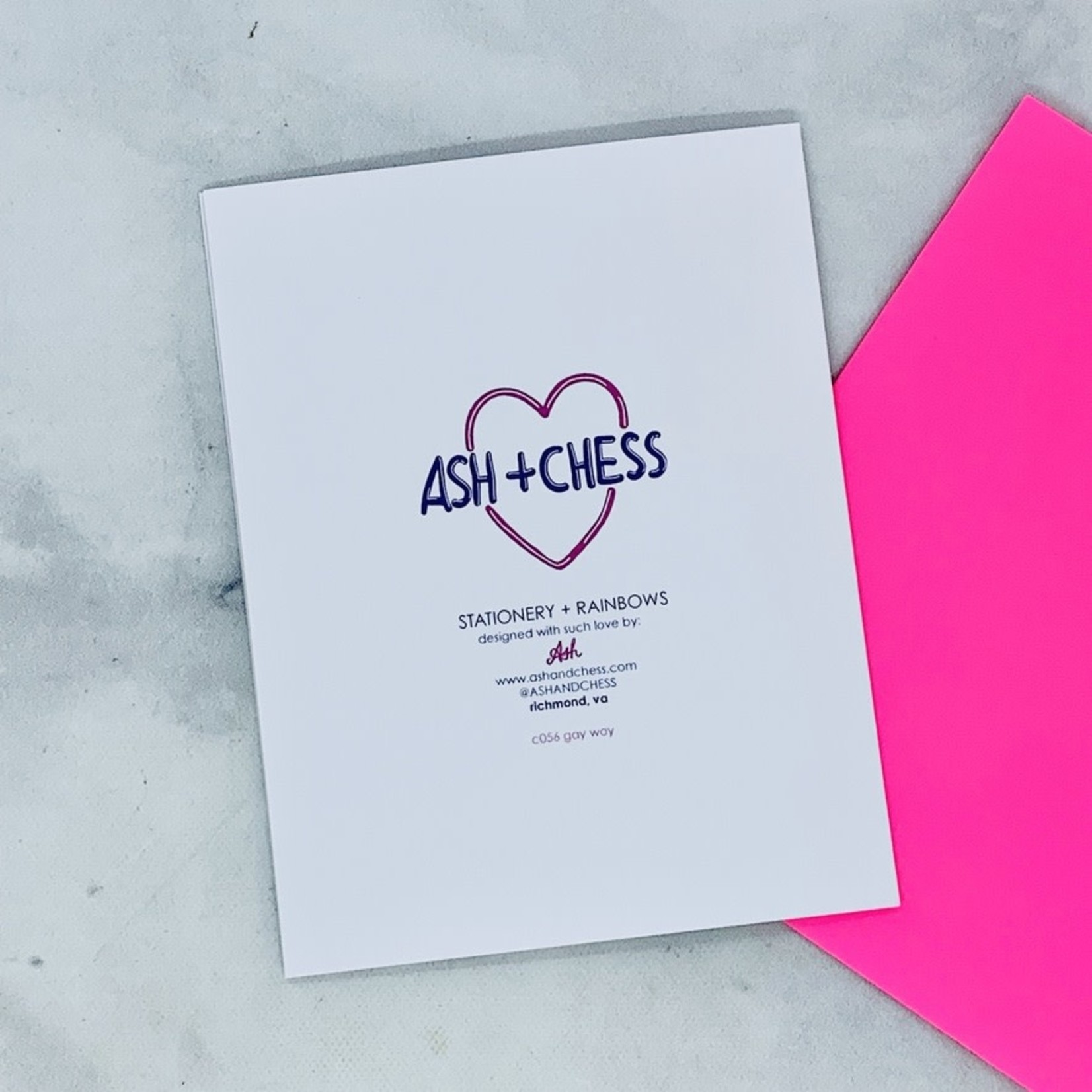 Love You In A Gay Way Card