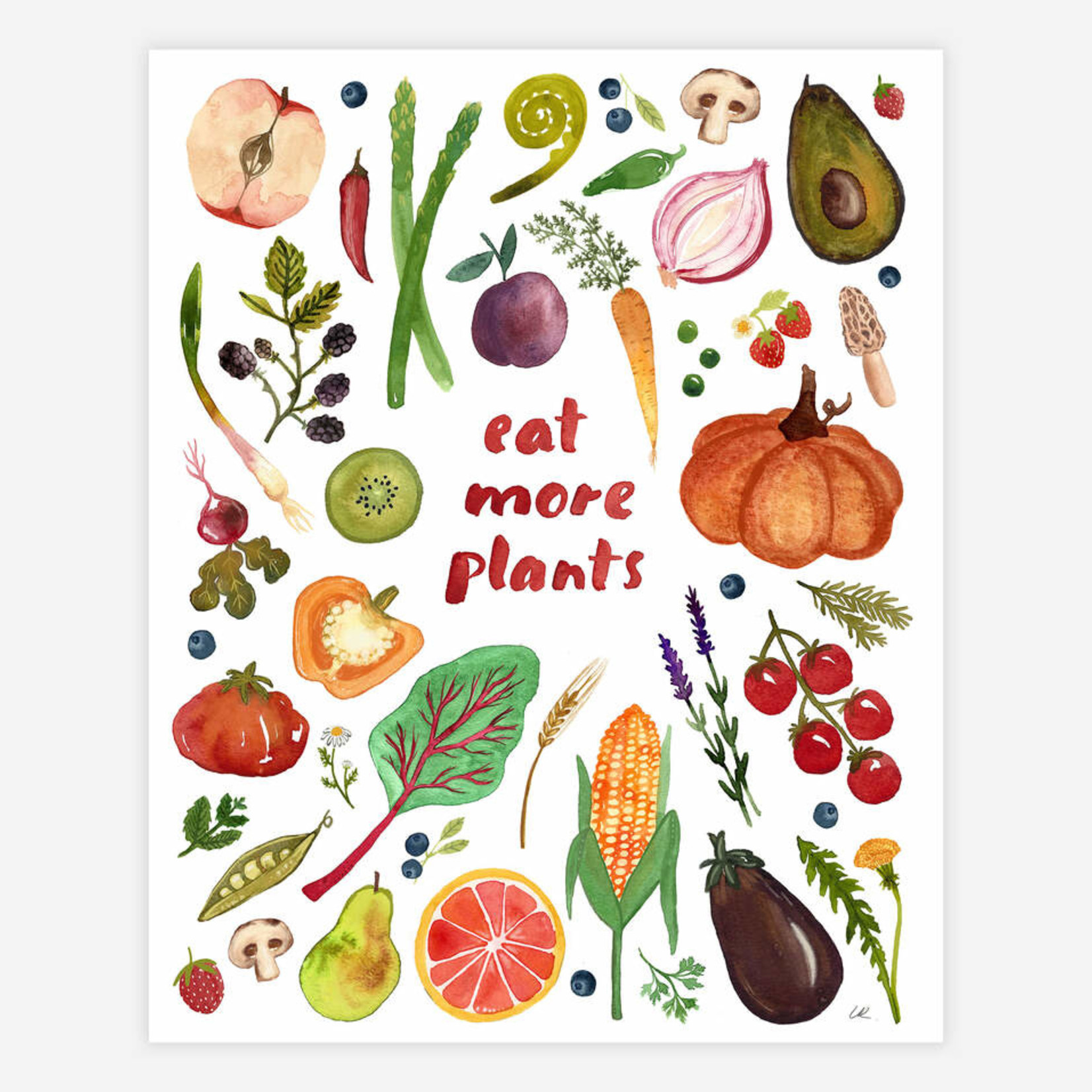 "Eat More Plants 8.5""x11"" Print"