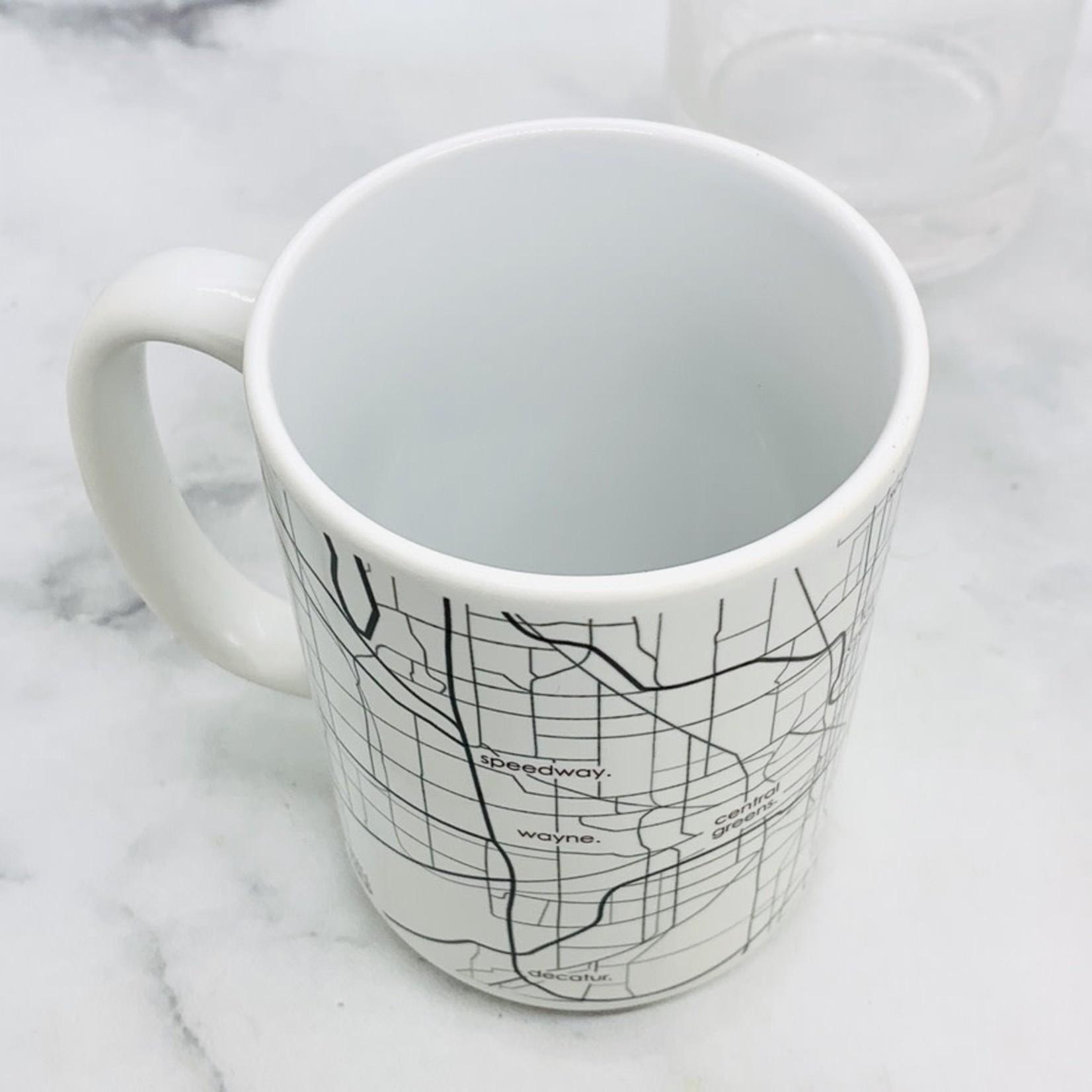 Indianapolis Map Glassware