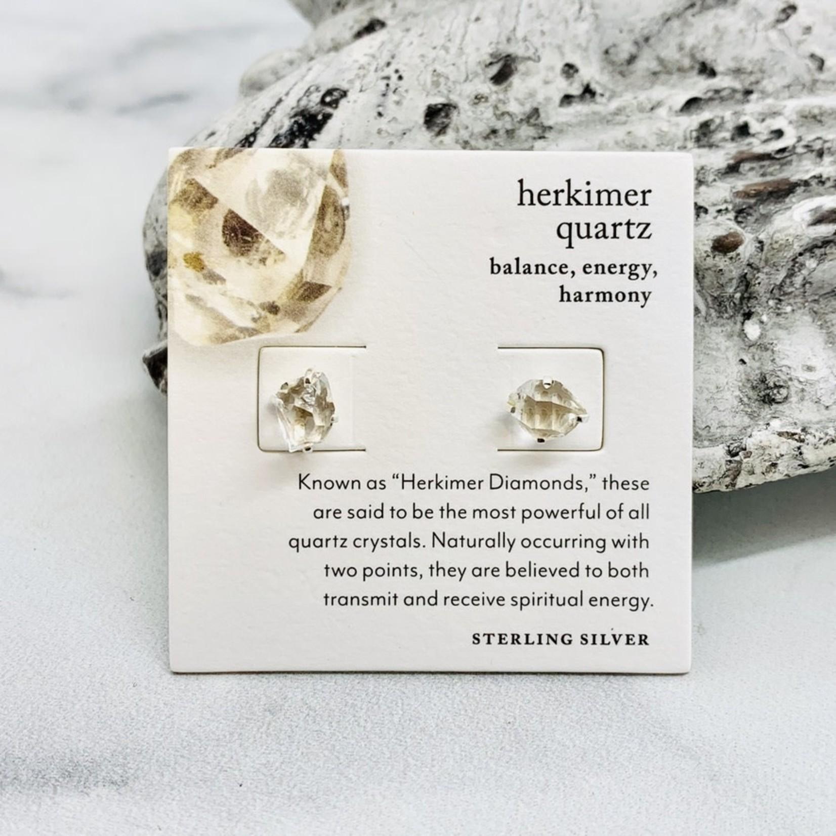 Luna Norte Silver Birthstone Stud Earrings