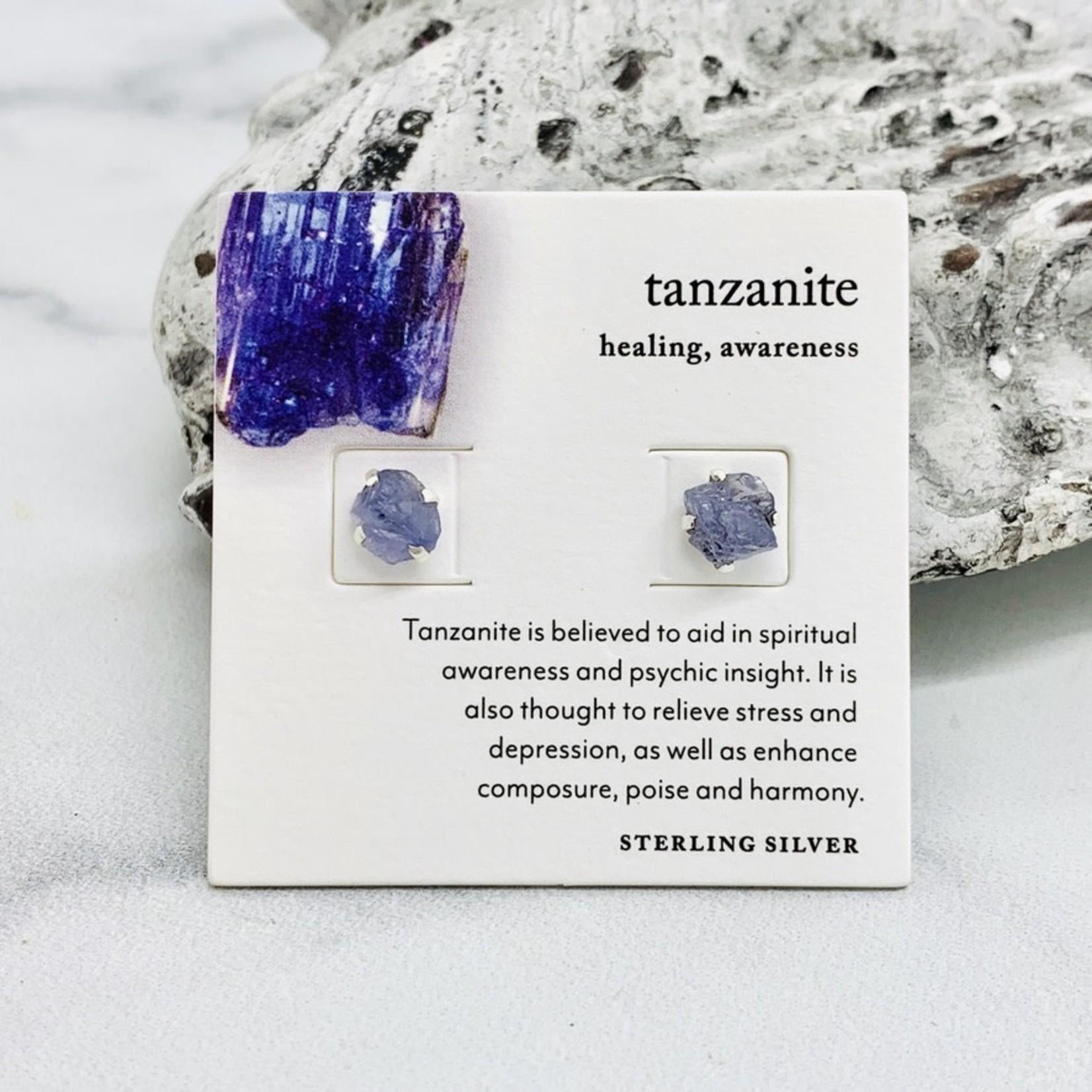 Luna Norte Raw Gemstone Stud Earrings
