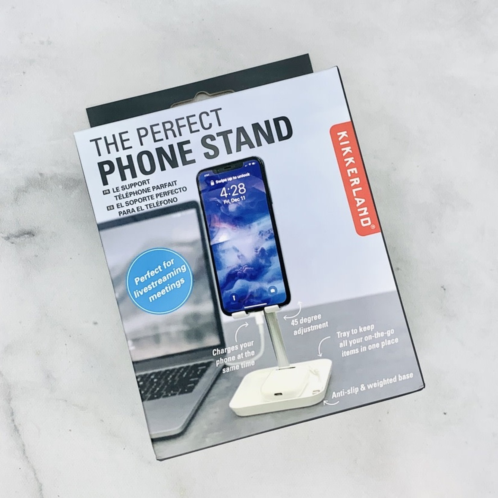 White Adjustable Phone Stand
