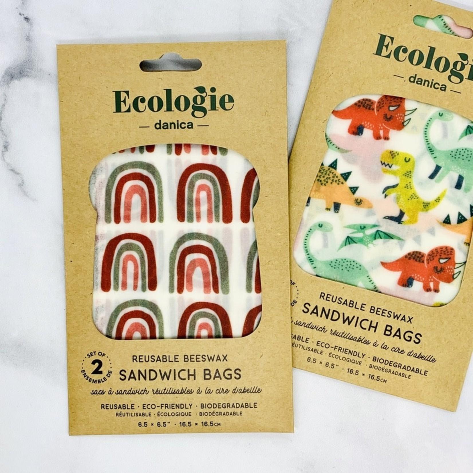Bee's Wax Wraps 2 Sandwich Bags